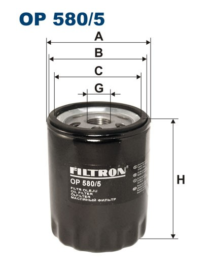 Filtr oleju OP 580/5 [OP5805] FILTRON