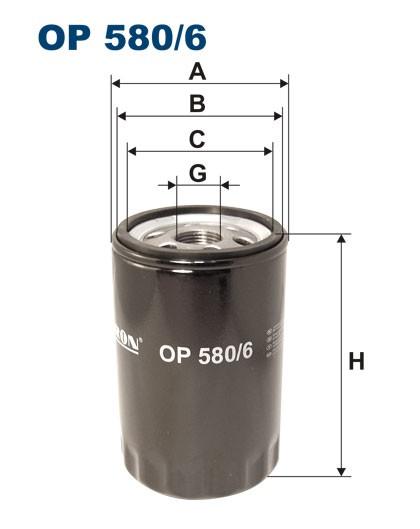 Filtr oleju OP 580/6 [OP5806] FILTRON