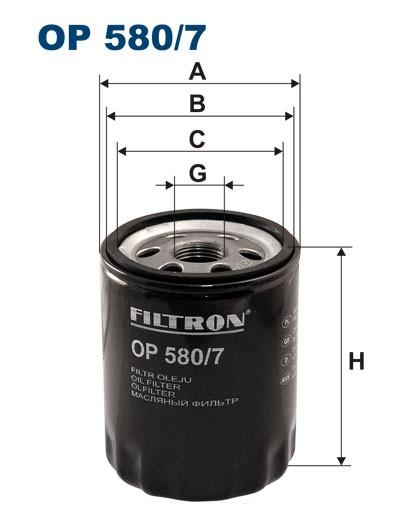 Filtr oleju OP 580/7 [OP5807] FILTRON