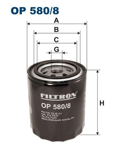 Filtr oleju OP 580/8 [OP5808] FILTRON