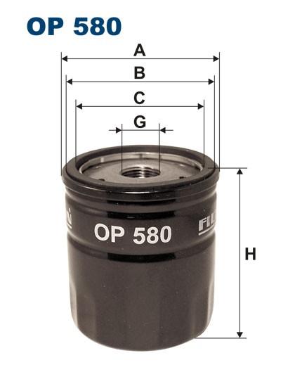 Filtr oleju OP 580 [OP580] FILTRON