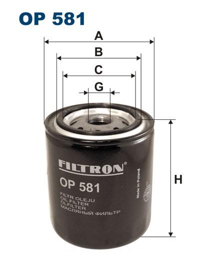 Filtr oleju OP 581 [OP581] FILTRON