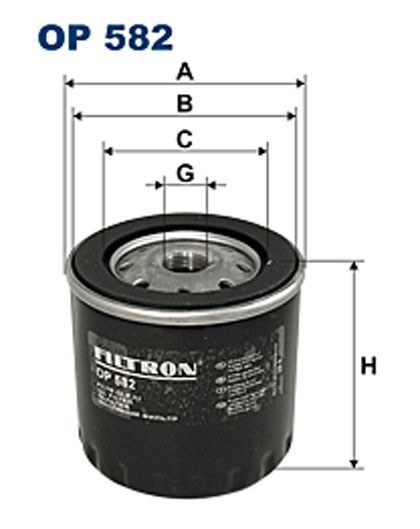 Filtr oleju OP 582 [OP582] FILTRON