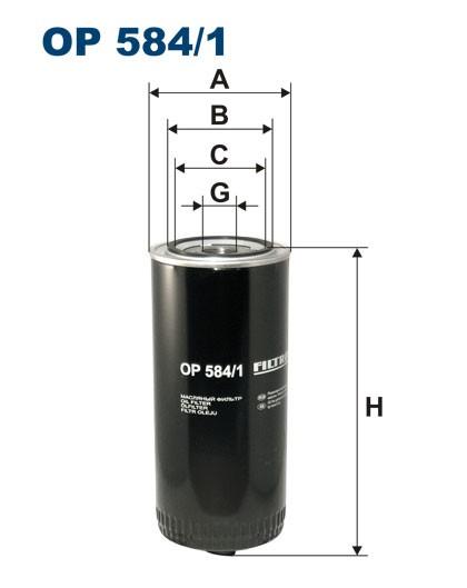 Filtr oleju OP 584/1 [OP5841] FILTRON