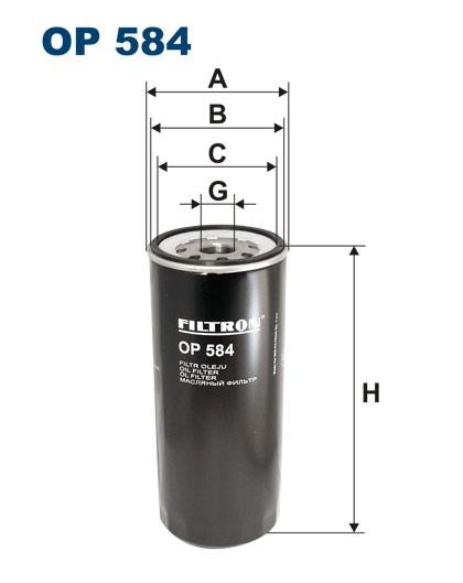 Filtr oleju OP 584 [OP584] FILTRON