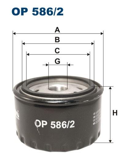 Filtr oleju OP 586/2 [OP5862] FILTRON