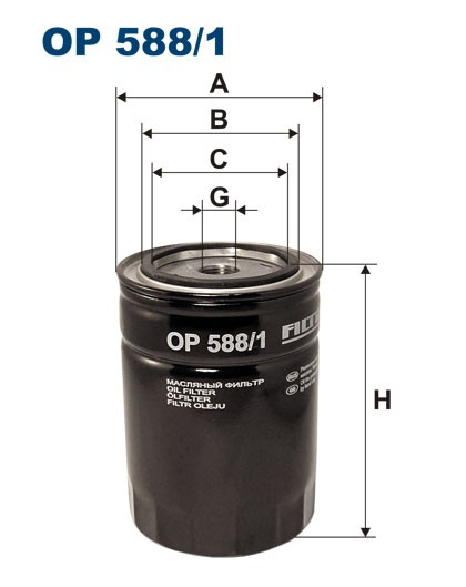 Filtr oleju OP 588/1 [OP5881] FILTRON
