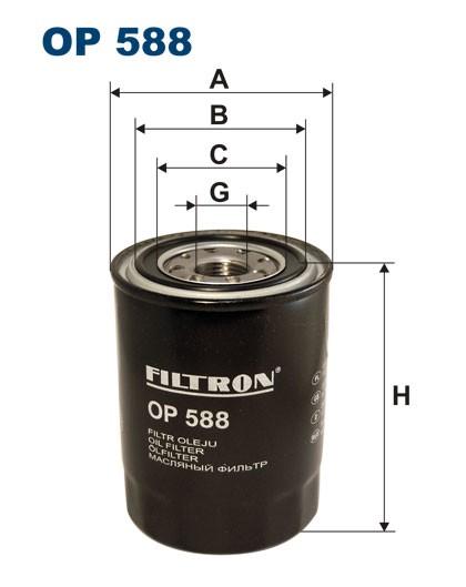 Filtr oleju OP 588 [OP588] FILTRON