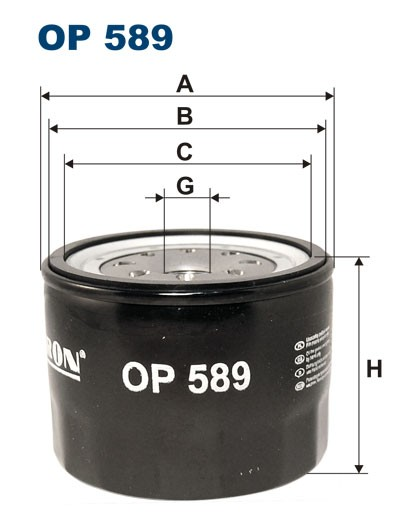 Filtr oleju OP 589 [OP589] FILTRON