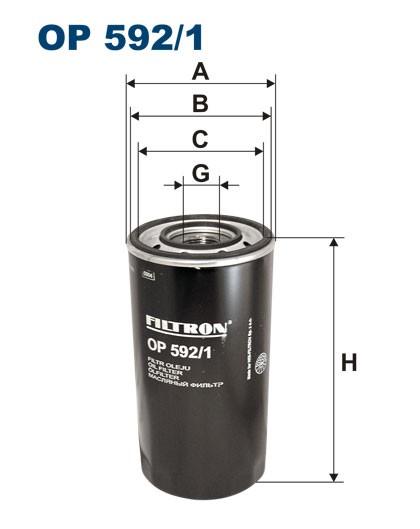 Filtr oleju OP 592/1 [OP5921] FILTRON