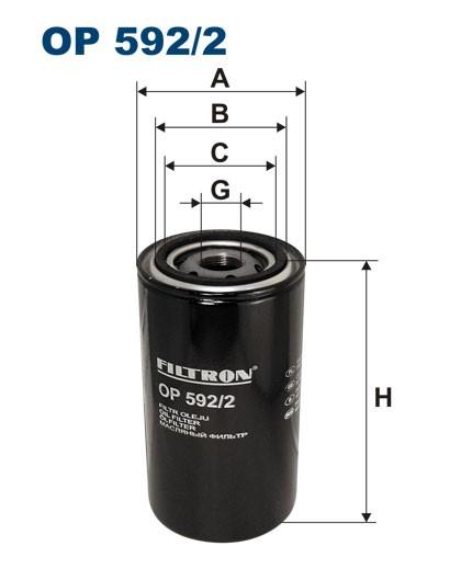 Filtr oleju OP 592/2 [OP5922] FILTRON