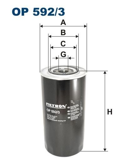 Filtr oleju OP 592/3 [OP5923] FILTRON