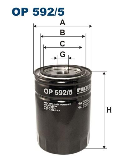Filtr oleju OP 592/5 [OP5925] FILTRON