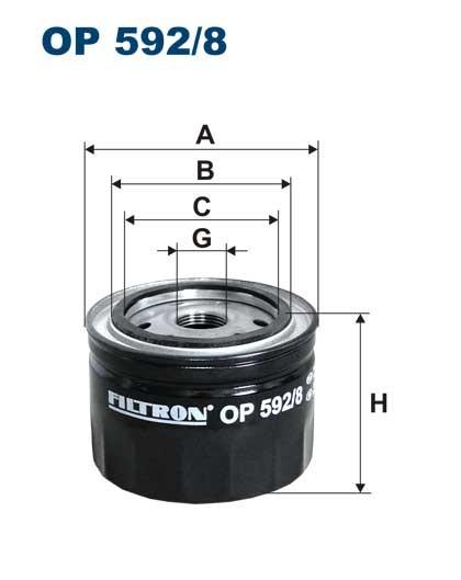 Filtr oleju OP 592/8 [OP5928] FILTRON