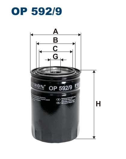 Filtr oleju OP 592/9 [OP5929] FILTRON