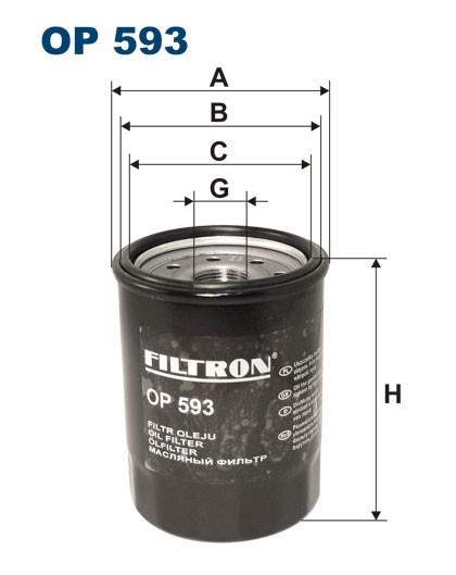 Filtr oleju OP 593 [OP593] FILTRON