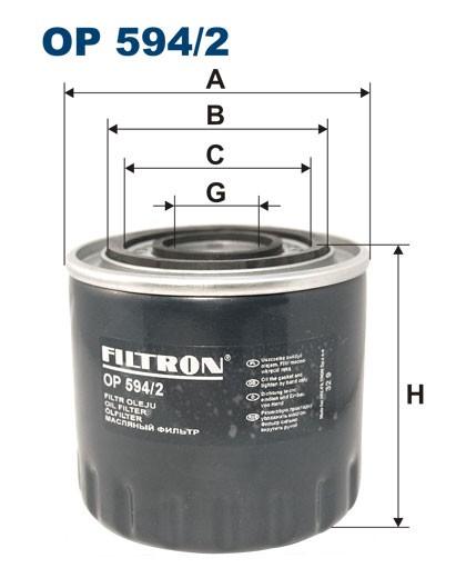 Filtr oleju OP 594/2 [OP5942] FILTRON