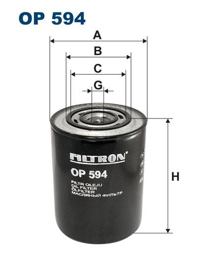 Filtr oleju OP 594 [OP594] FILTRON