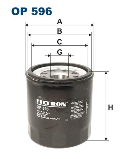 Filtr oleju OP 596 [OP596] FILTRON