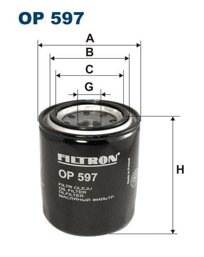 Filtr oleju OP 597 [OP597] FILTRON