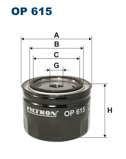 Filtr oleju OP 615 [OP615] FILTRON