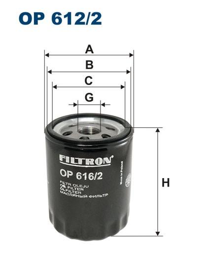 Filtr oleju OP 616/2 [OP6162] FILTRON