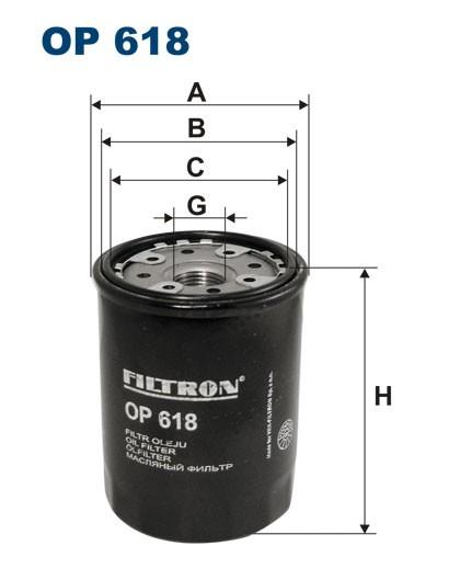 Filtr oleju OP 618 [OP618] FILTRON