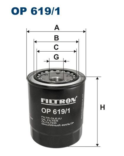 Filtr oleju OP 619/1 [OP6191] FILTRON