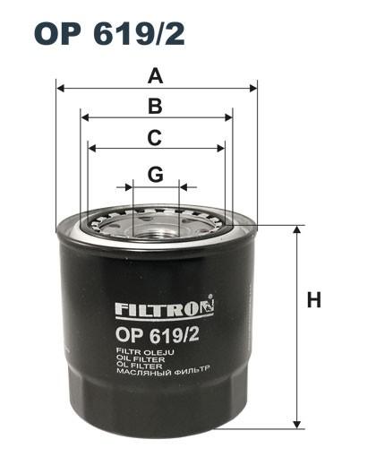 Filtr oleju OP 619/2 [OP6192] FILTRON