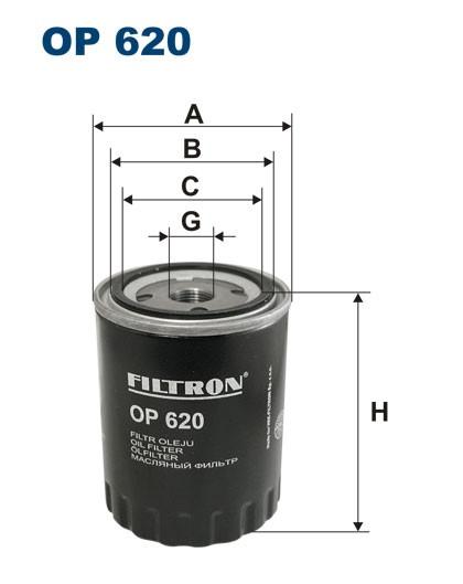 Filtr oleju OP 620 [OP620] FILTRON