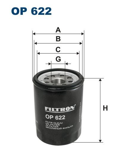 Filtr oleju OP 622 [OP622] FILTRON