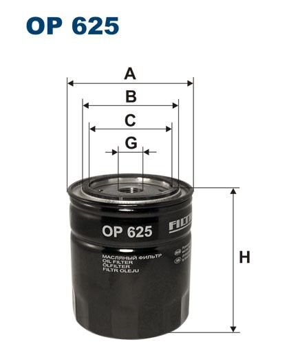 Filtr oleju OP 625 [OP625] FILTRON