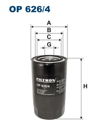Filtr oleju OP 626/4 [OP6264] FILTRON