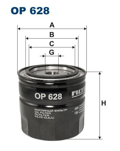 Filtr oleju OP 628 [OP628] FILTRON