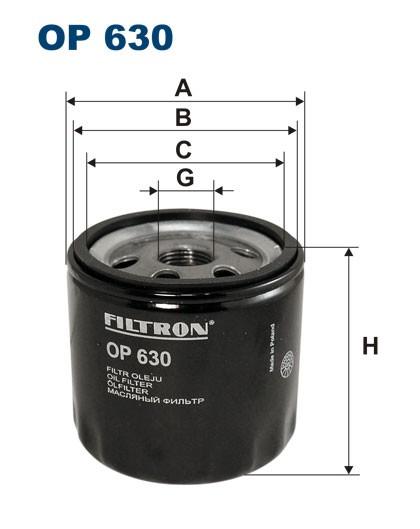 Filtr oleju OP 630 [OP630] FILTRON