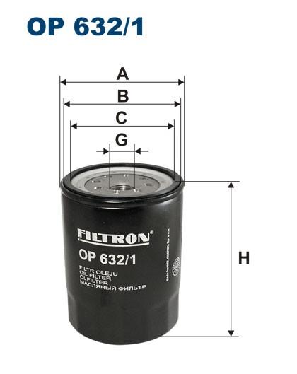 Filtr oleju OP 632/1 [OP6321] FILTRON