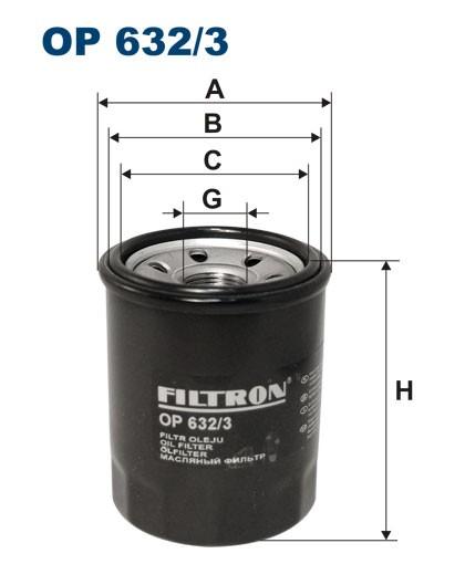 Filtr oleju OP 632/3 [OP6323] FILTRON
