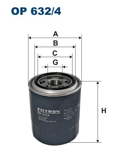 Filtr oleju OP 632/4 [OP6324] FILTRON