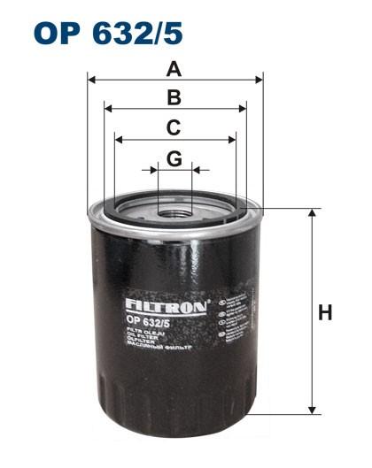 Filtr oleju OP 632/5 [OP6325] FILTRON