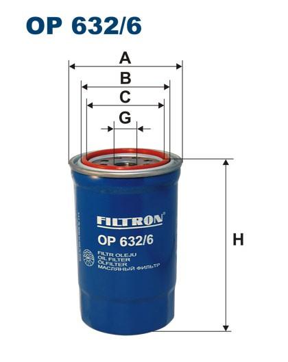 Filtr oleju OP 632/6 [OP6326] FILTRON