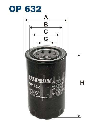 Filtr oleju OP 632 [OP632] FILTRON