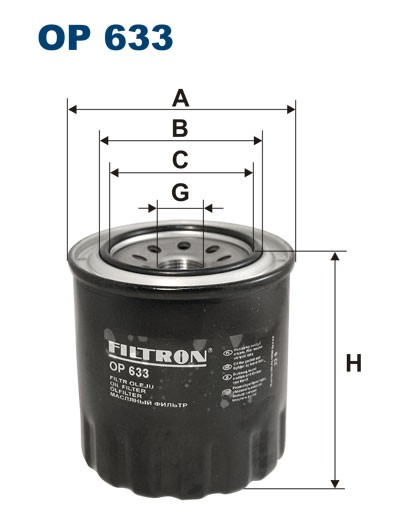 Filtr oleju OP 633 [OP633] FILTRON
