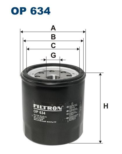 Filtr oleju OP 634 [OP634] FILTRON