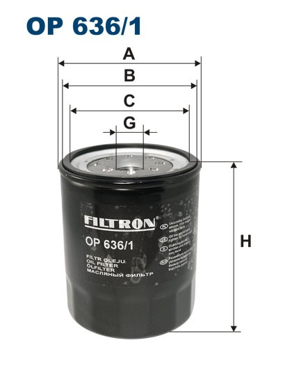 Filtr oleju OP 636/1 [OP6361] FILTRON
