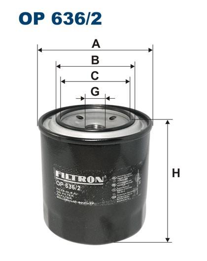 Filtr oleju OP 636/2 [OP6362] FILTRON