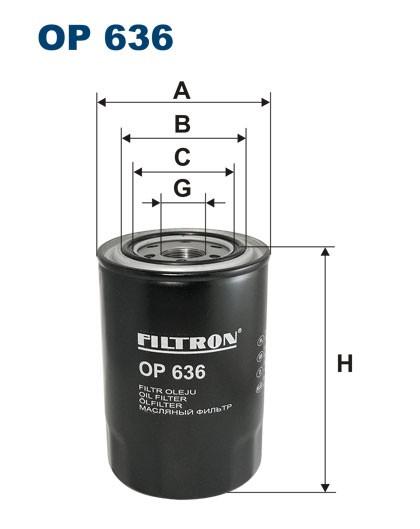 Filtr oleju OP 636 [OP636] FILTRON