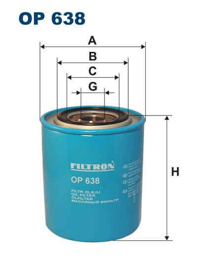 Filtr oleju OP 638 (OP638) FILTRON