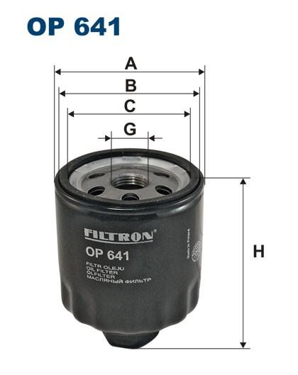 Filtr oleju OP 641 (OP641) FILTRON