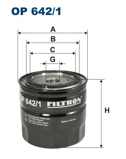 Filtr oleju OP 642/1 (OP6421) FILTRON