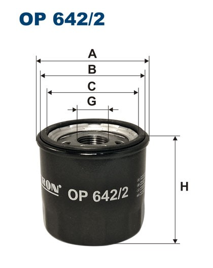 Filtr oleju OP 642/2 (OP6422) FILTRON
